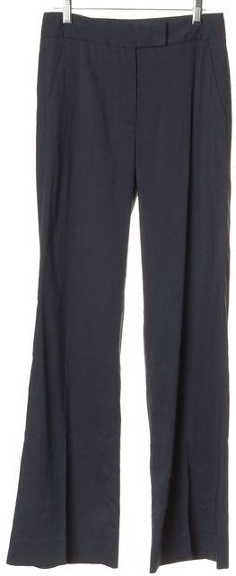 THEORY Blue Linen Lucas B Linen Boot Cut Flare Leg Pants