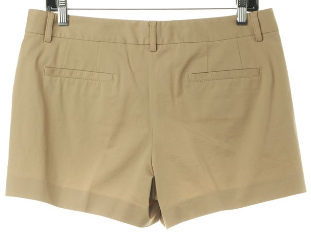 THEORY Beige Stretch Cotton Casual Shorts