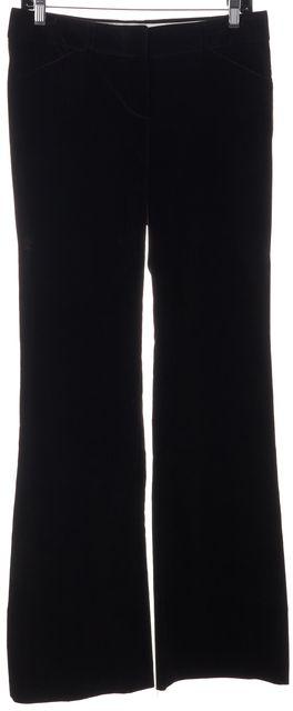 THEORY Brown Velvet Flared Trouser Dress Pants