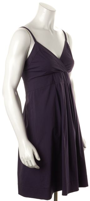 THEORY Purple Empire Waist Dress