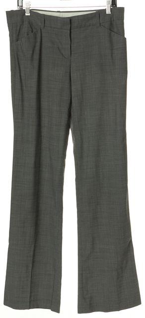 THEORY Gray Wool Flared Leg Dress Pants