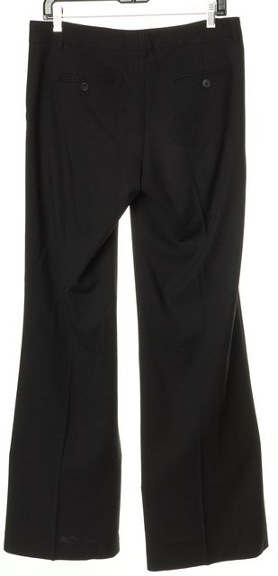 THEORY Black Wool Pinstriped Flared Leg Dress Pants