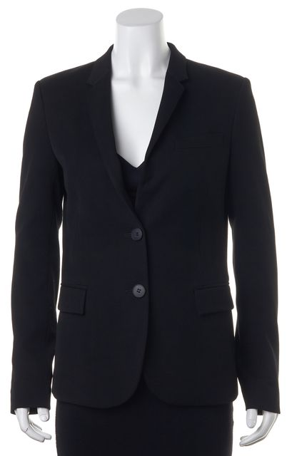THEORY Black Wool Double Button Pocket Blazer