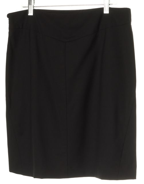 THEORY Black Wool Straight Above Knee Career Skirt
