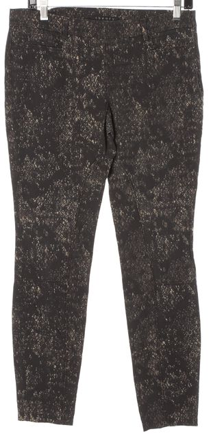 THEORY Gray Multi Junius Snake Stretch Trouser Dress Pants