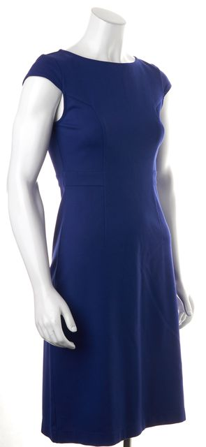 THEORY Royal Blue Parissa Cap Sleeve Knee-Length Sheath Dress