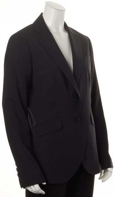 THEORY Black Wool Rex V Double Button Pocket Front Blazer