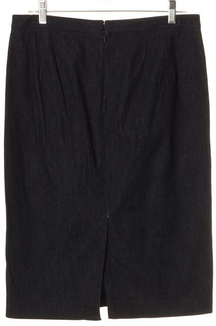 THEORY Blue Super Stretch Denim Stretch Straight Skirt