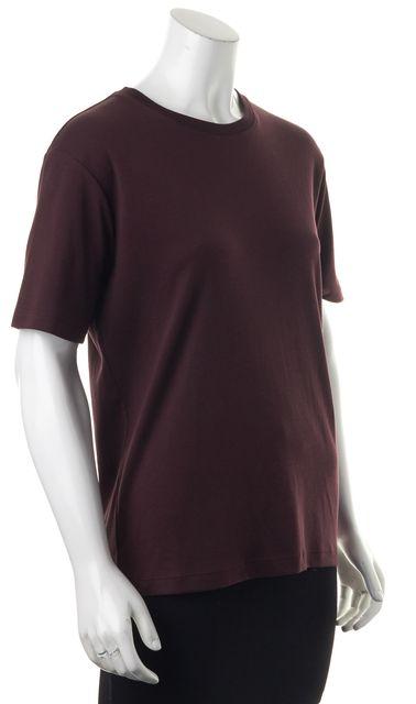 THEORY Burgundy Red Basic Crewneck Tee T-Shirt