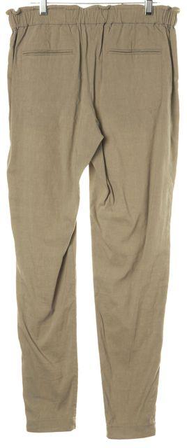 THEORY Khaki Green Linen Pants
