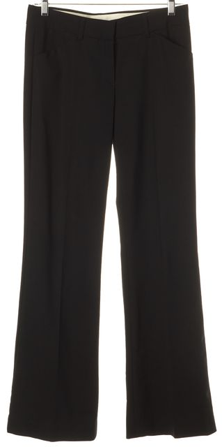 THEORY Black Wool Pleated Trousers Pants