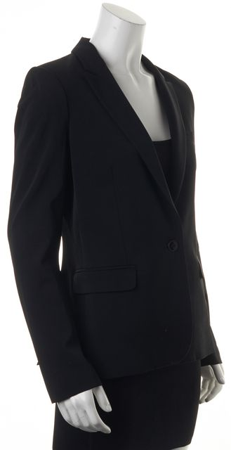 THEORY Black Priceless Charlie Single Button Pocket Front Blazer