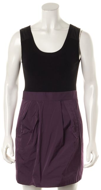 THEORY Black Purple Sheath Dress