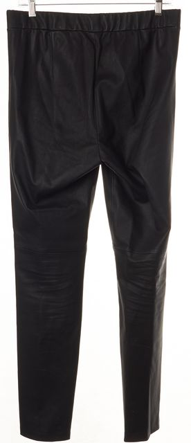 THEORY Black Leather Leather Leggings