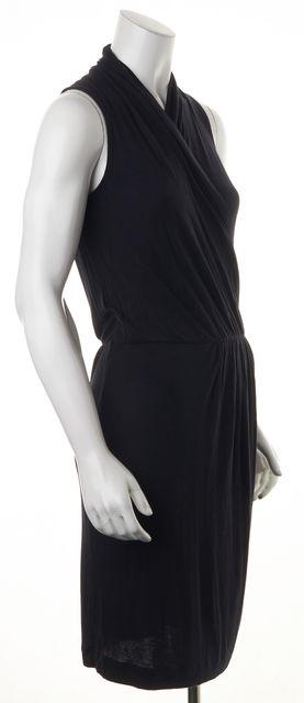 THEORY Black Sleeveless Stretch Casual Knee Length Dress