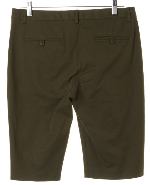 THEORY Olive Green Pleated Palmer S Bermuda Walking Shorts