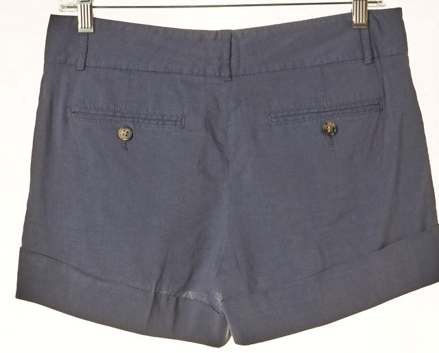 THEORY Blue Linen Hammish Cuffed Trouser Dress Shorts