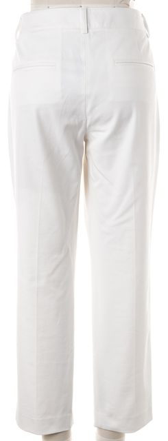 THEORY White Yanette Cropped Pleated Trouser Dress Pants