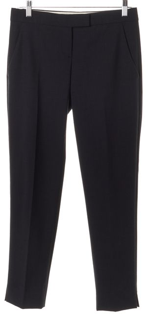 THEORY Navy Blue Wool Ibbey Tailor Trouser Dress Pants