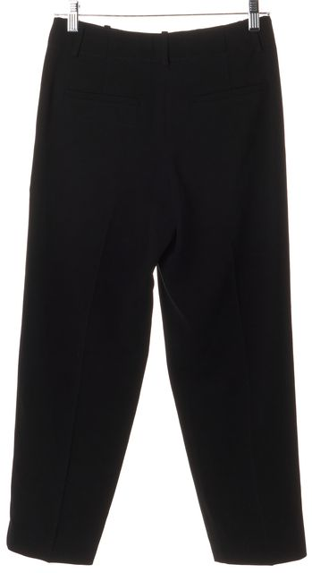 THEORY Black Pleated Cropped Trousers Pants