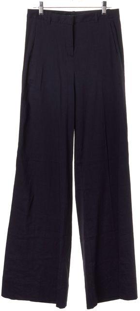 THEORY Blue Linen Univa Crunch Wide Flare Leg Pants