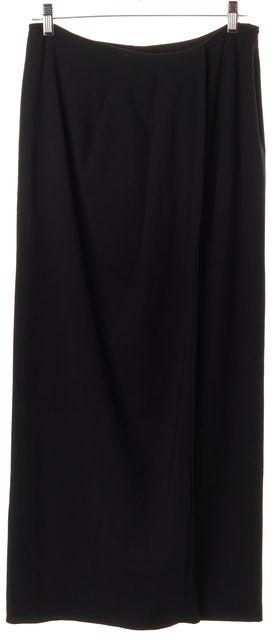 THEORY Black Wool Wrap Full Length Maxi Skirt