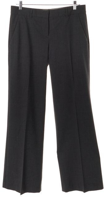THEORY Gray Wool Flare Leg Boot Cut Dress Pants