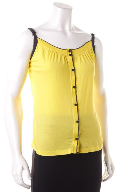 THEORY Yellow Gray Trim Tank Top