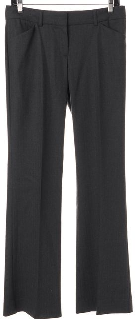 THEORY Gray Wool Blend Four Pocket Casual Dress Pants