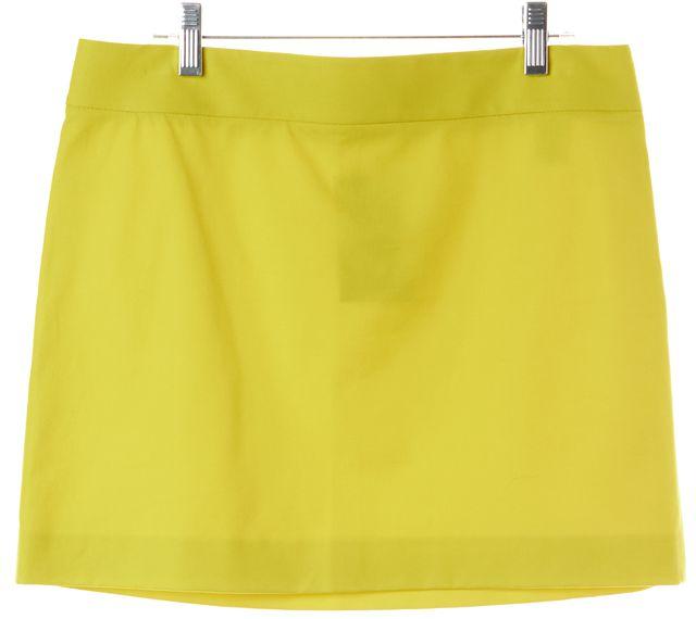 THEORY Yellow Ranoli Bistretch Mini Skirt