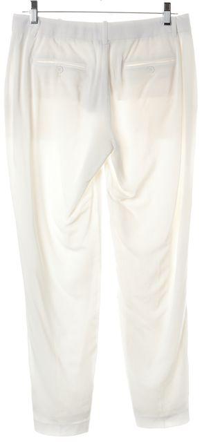 THEORY White Seasons Testra 2B Viscose Blend Trousers Pants