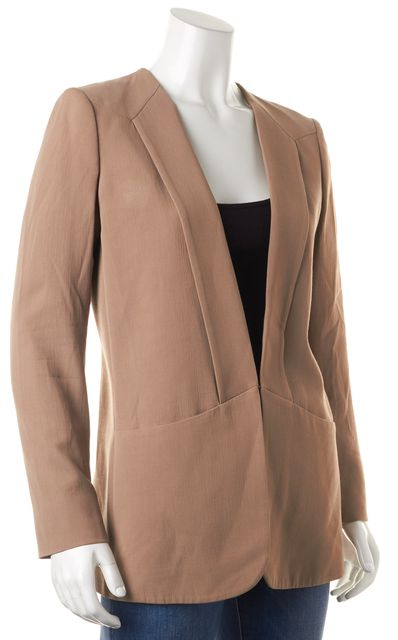 THEORY Beige Wool Pocket Front Hook & Eye Medora Blazer