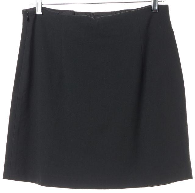 THEORY Dark Green Wool Pencil Skirt