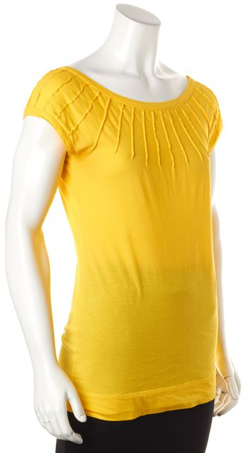 THEORY Yellow Blouse Top