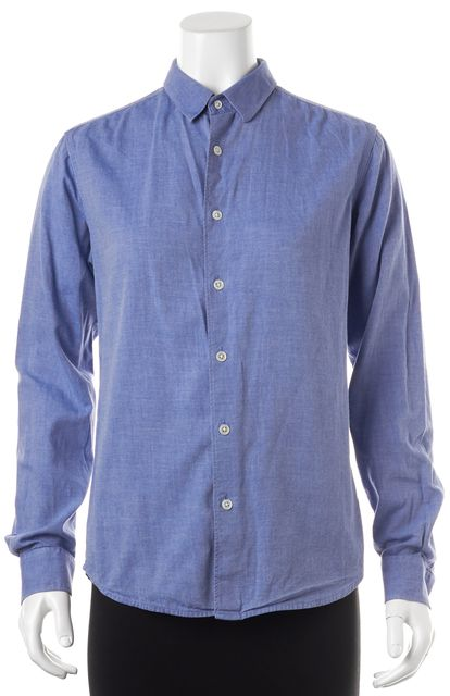 THEORY Blue Button Down Shirt Top