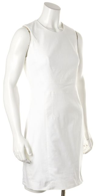 THEORY White Taline Sleeveless Stretch Sheath Dress