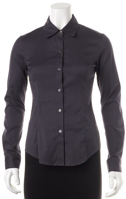 THEORY Navy Blue Button Down Shirt