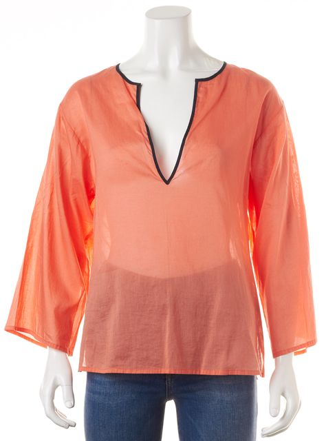 THEORY Orange Tunic Top