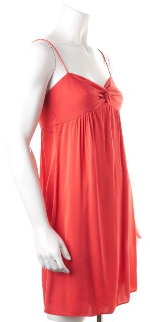 THEORY Pink Spaghetti Strap Above Knee Empire Waist Dress