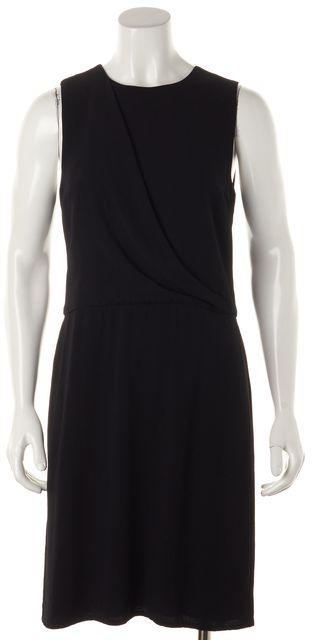 THEORY Black Sleeveless Dialia Sheath Dress
