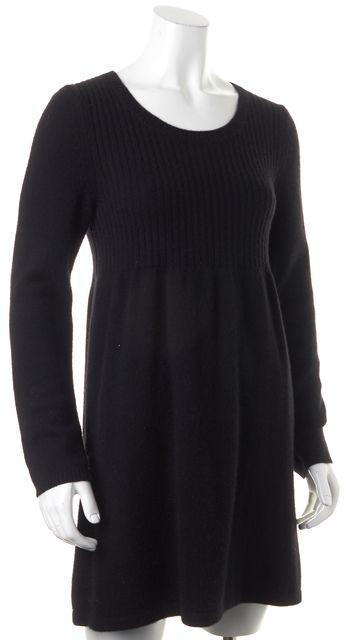 THEORY Black Cashmere Long Sleeve Isamar Sweater Dress