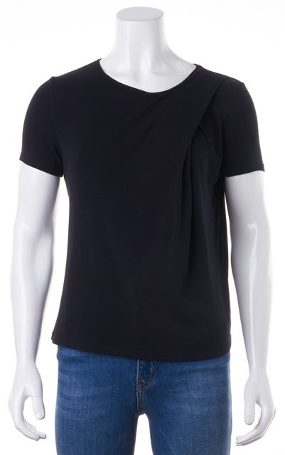 THEORY Black Trake Ribbed Relaxed Fit T-Shirt