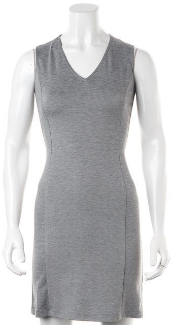 THEORY Heather Gray Sleeveless V-Neck Sheath Dress