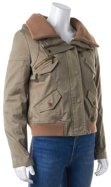 THEORY Brown Faux Fur Lining Hooded Nyree Basic Jacket