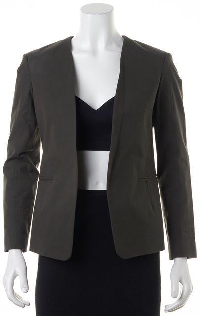 THEORY Green Tadean TS Checklist Basic Open Drape Blazer Jacket
