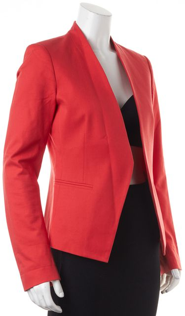 THEORY Red Lanai Bistretch Basic Open Drape Blazer Jacket