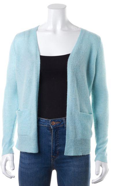 THEORY Blue Cashmere Scarletta TC Open Drape Cardigan Sweater