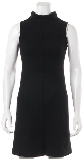 THEORY Black Wool Sleeveless Sheath Dress