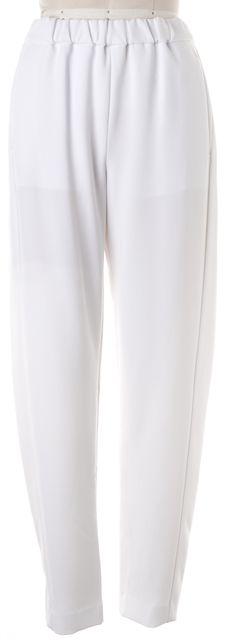 THEORY Optic White Elastic Waist Thorene Casual Pants