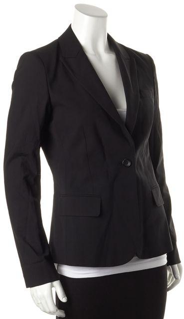 THEORY Black Wool Gabe B Sovona One Button Blazer Blazer
